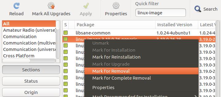 ubuntu删除旧Linux内核