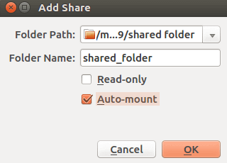 virtualbox文件共享