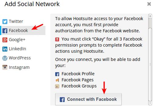 Hootsuite将WordPress文章自动发布到Facebook主页