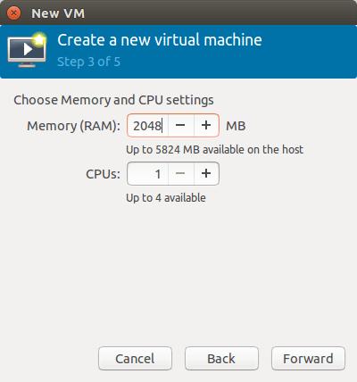 分配CPU和内存