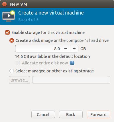指定虚拟硬盘的大小