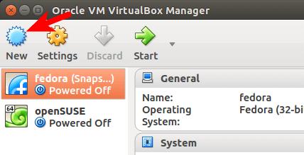 virtualbox创建一个新的虚拟机