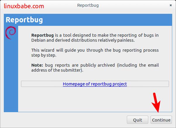 debian reportbug配置向导