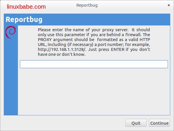 debian reportbug代理服务器配置