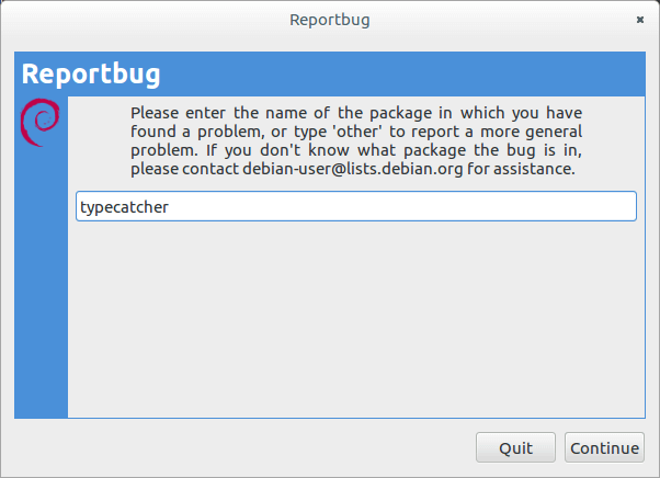 debian使用reportbug提交bug报告