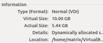 查看虚拟硬盘的大小