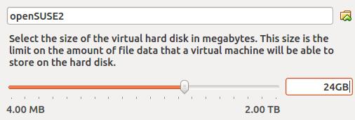 创建新的虚拟硬盘