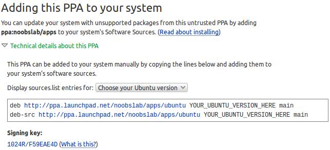 ubuntu PPA