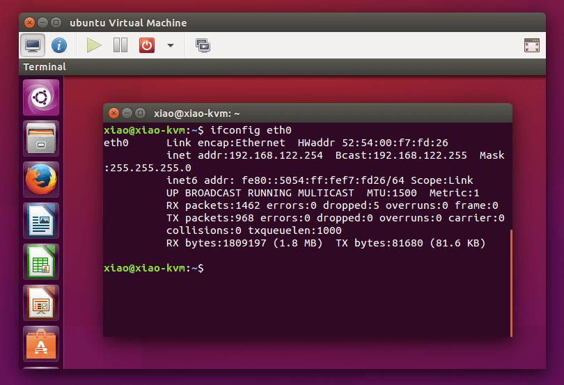 在KVM虚拟机里安装好ubuntu系统