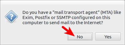 debian reportbug MTA配置