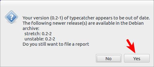 reportbug检测软件包版本