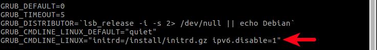 grub禁用IPv6