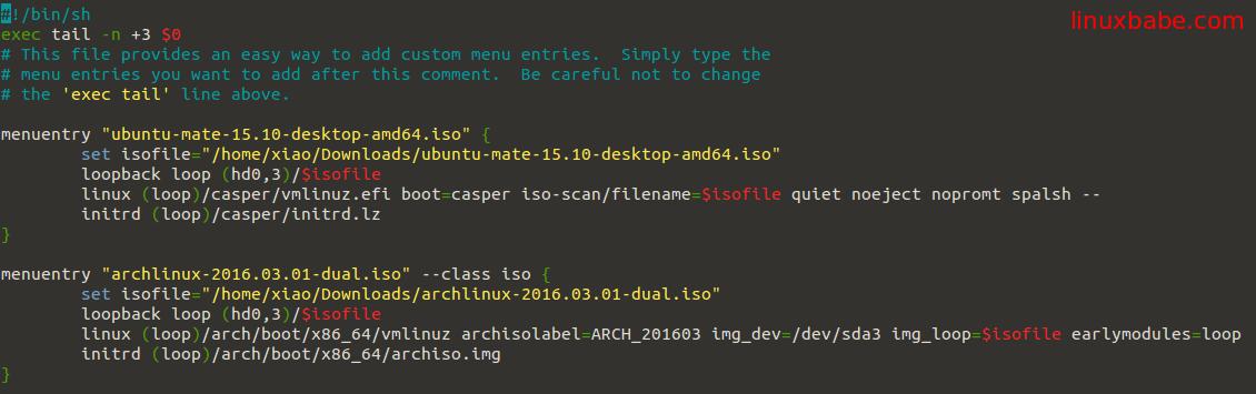Grub2引导ISO文件