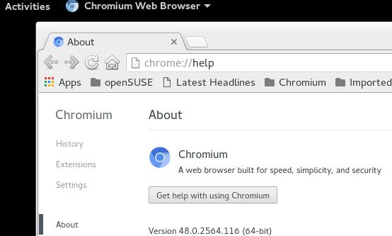 openSUSE系统安装Chromium浏览器