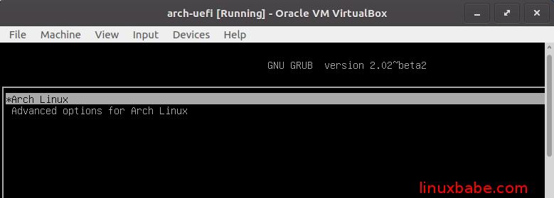 Virtualbox下开启UEFI固件安装Arch Linux虚拟机