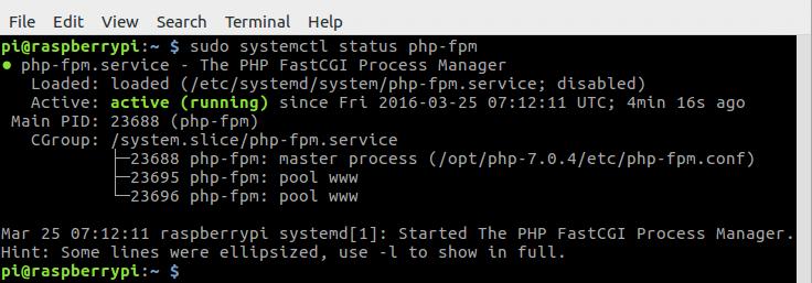 树莓派Raspbian Jessie源码编译安装PHP7
