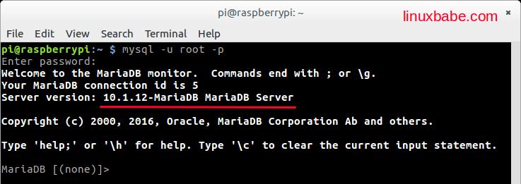 树莓派Raspbian Jessie源码编译安装MariaDB