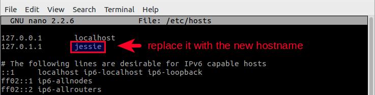 更改Linux系统的主机名