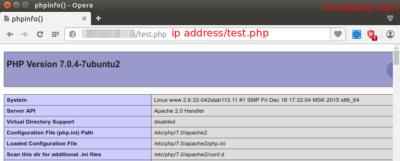 Ubuntu 16.04 LTS 搭建Apache, MariaDB PHP7 (LAMP)