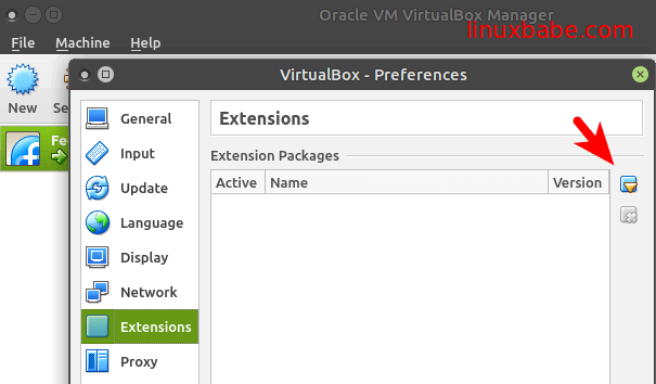 Fedora安装VirtualBox扩展包 (VirtualBox Extensions Pack)