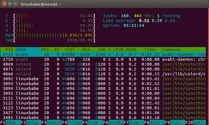 htop-check-memory-usage-on-linux